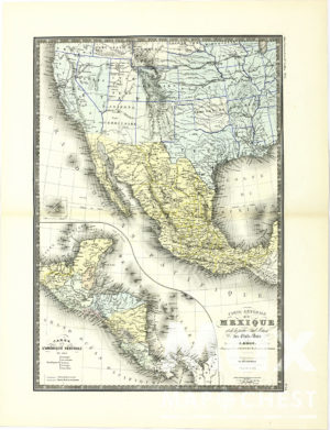 Vintage Map of United States
