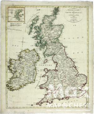 Buy historical maps: Vintage Map of Great Britain and Ireland
