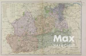 Vintage Map of Huntingdonsh