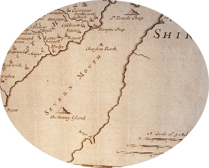 Image showing laid paper lines on an antique map