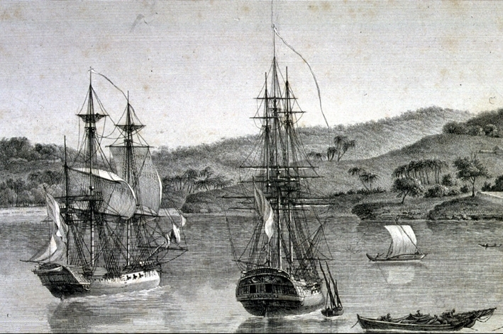 Le Naturaliste and Le Geographe - The Ships used on Baudin's expedition